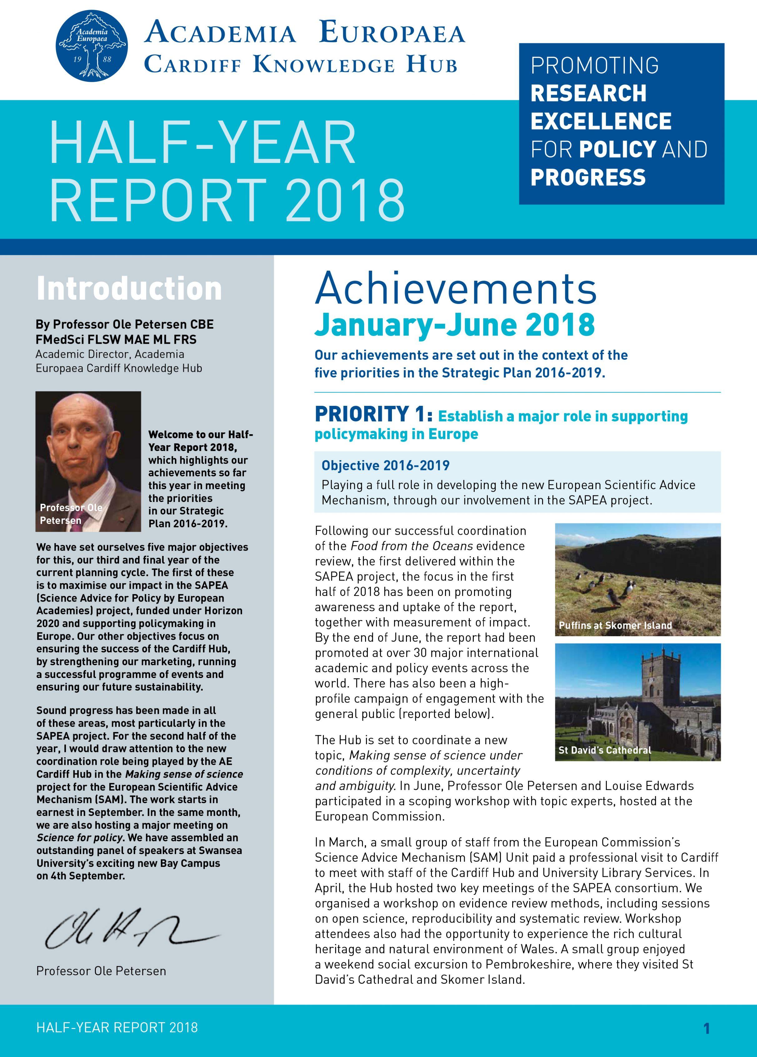 Half-Year report 2018