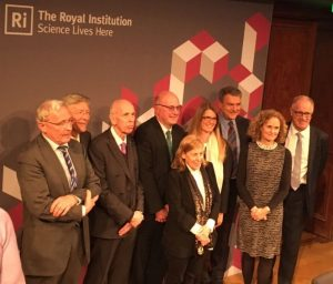 Professor Petersen, pictured with other speakers at the Brexit debate at the Royal Institution, 8th May