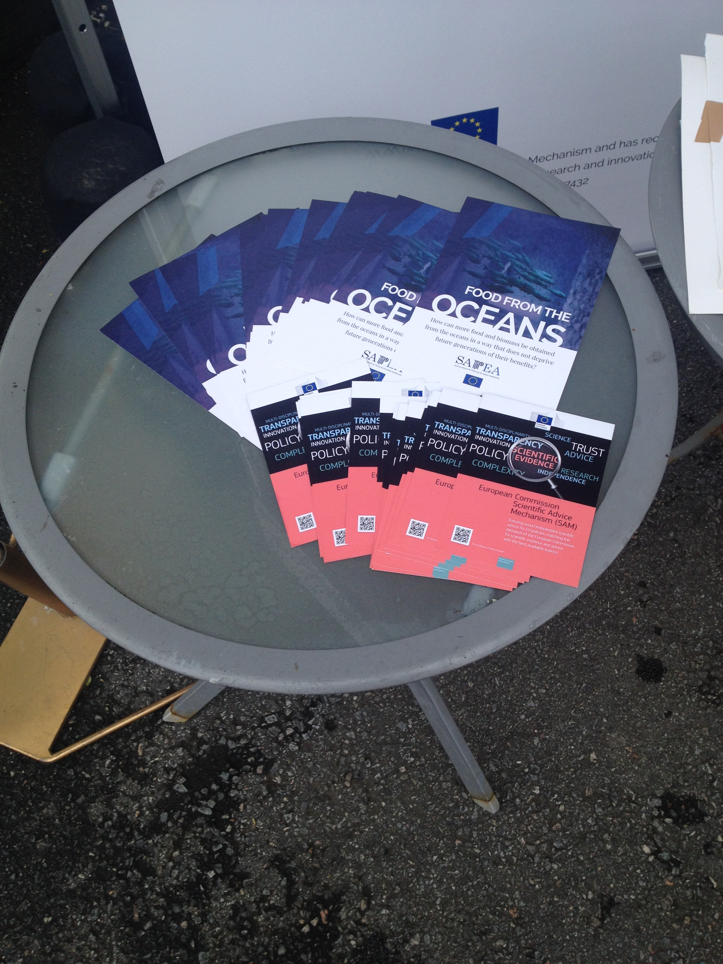 Leaflets promoting the SAM and SAPEA