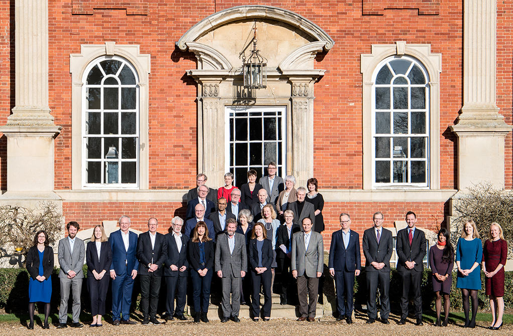Participants of the 'Meeting on the future UK and EU research partnership', organised by The Royal Society and The Wellcome Trust at Chicheley Hall