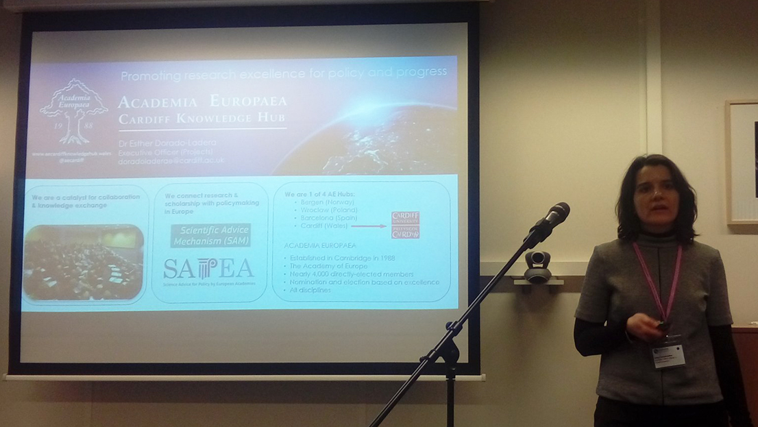 Esther Dorado-Ladera presents the AE Cardiff Hub