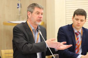Professor Poul Holm at the Science Business Roundable