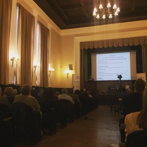 Prof Petersen addresses the Sofia conference
