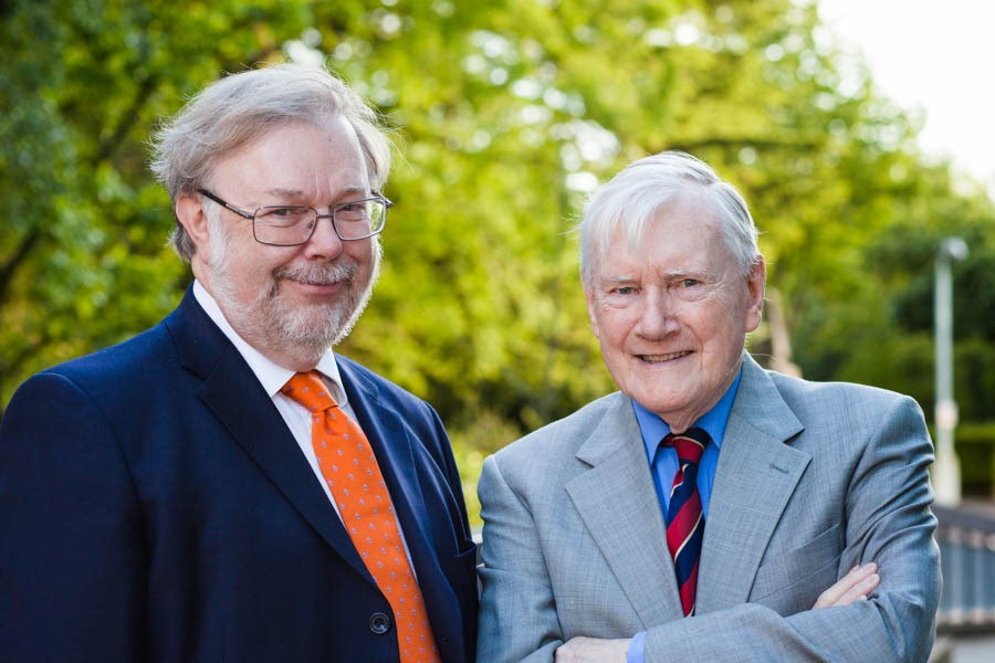 Prof John Tucker and Sir John Cadogan
