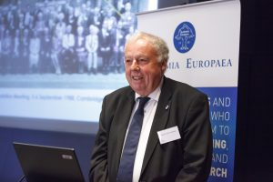 Professor Sierd Cloetingh, President of Academia Europaea, opening the event