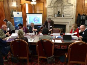 The Cardiff Steering Group meeting taking place in the Glamorgan Building