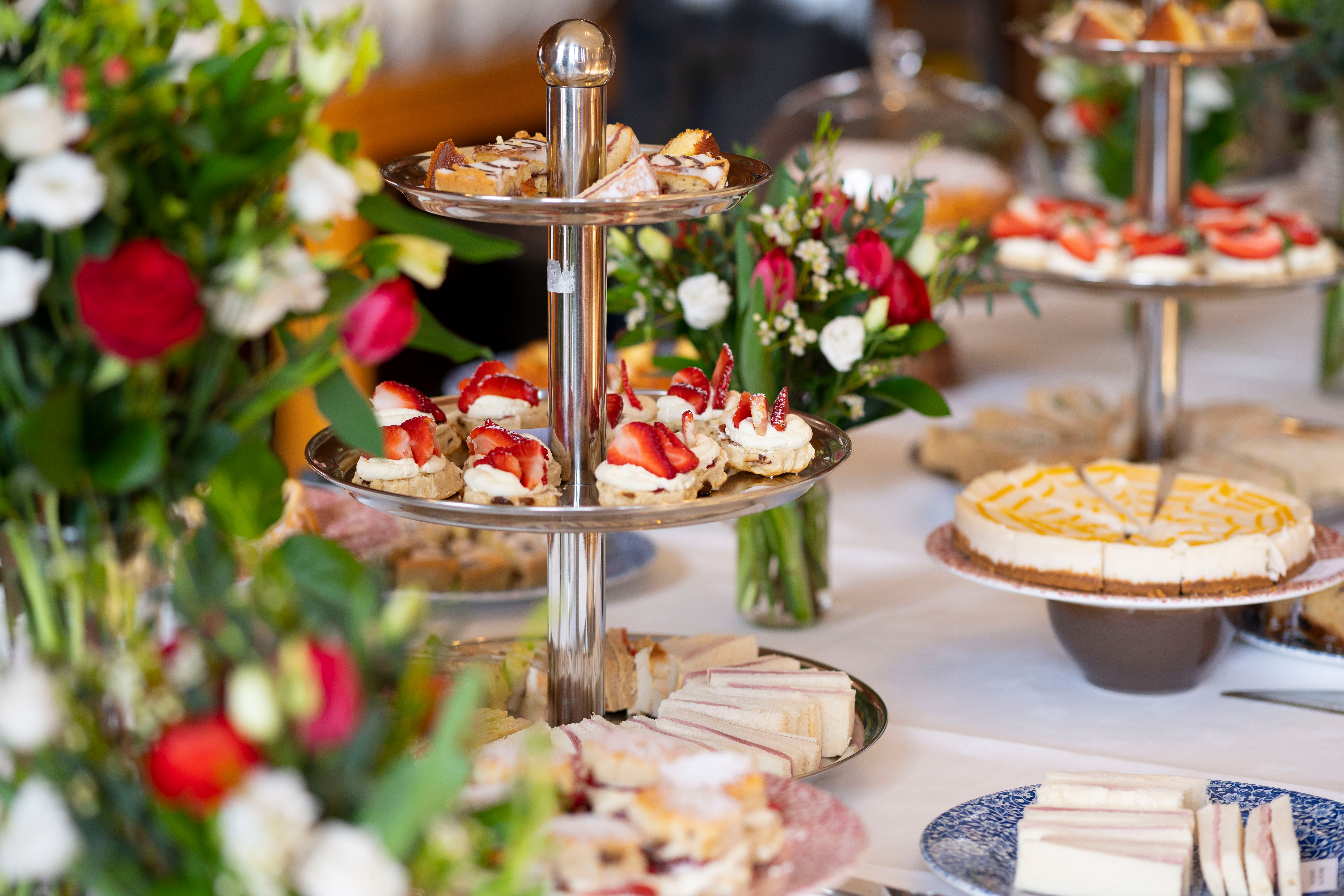 Afternoon tea for the guests