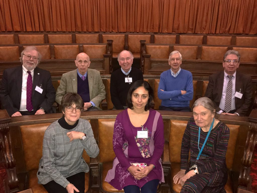 Mangala Srivinas, Chair of YAE, with members of AE Cardiff's Steering Group