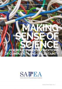 'Making sense of science for policy' cover