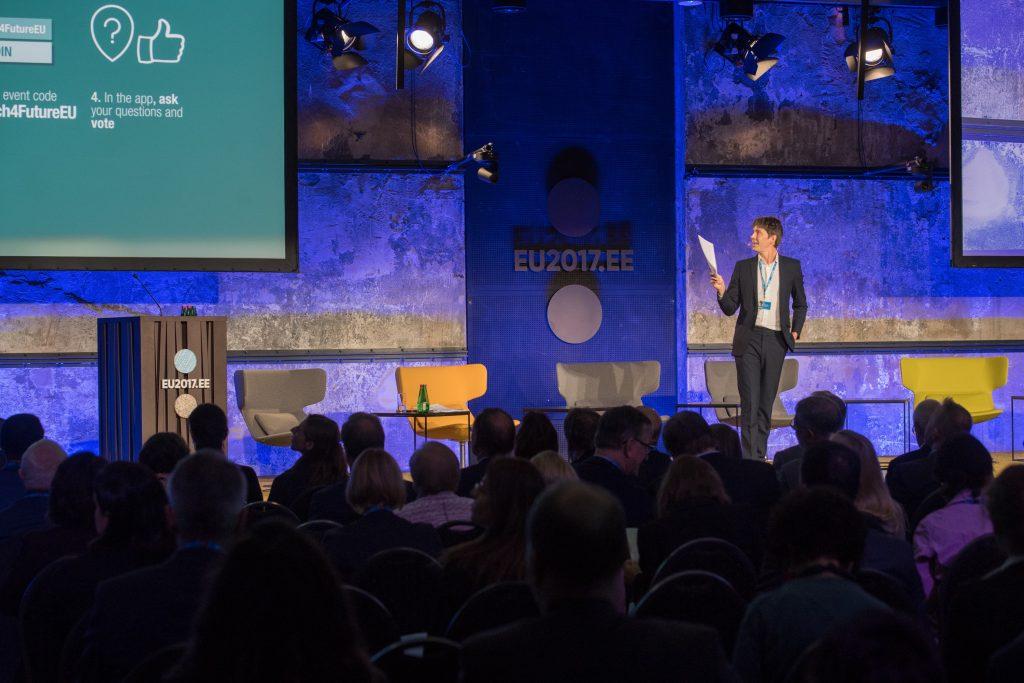 Professor Brian Cox addresses the audience