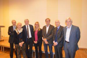 Priof. Edwin Kreuzer, Angela Grosse, Prof. Marian Paschke, Dr Gesche Krause, Prof. Gerd Krause, Prof. Ole Petersen, Prof. Rolf-Dieter Heuer