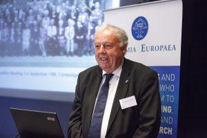 Professor Sierd Cloetingh, President of Academia Europaea, opening the event