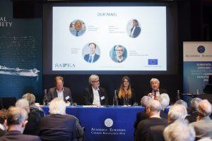 Making Sense of Science expert panel: Dr Johannes Klumpers, Professor Ortwin Renn, Professor Nicole Grobert and Professor Richard Catlow