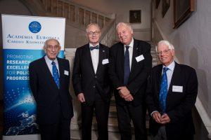 Academia's Presidents, past and present: Sir Arnold Burgen, Professor Lars Walløe, Professor Sierd Cloetingh and Professor Dr Jürgen Mittelstraß