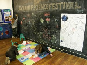 Children taking part in the colouring activities