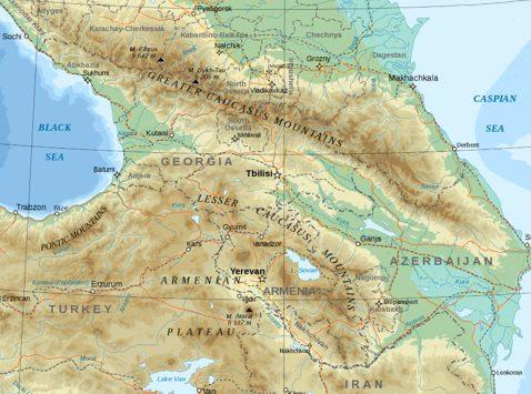 Map of Caucasus