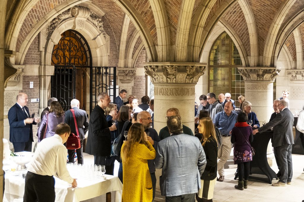 A Belgium themed welcome reception hosted by KU Leuven Libraries at University Library