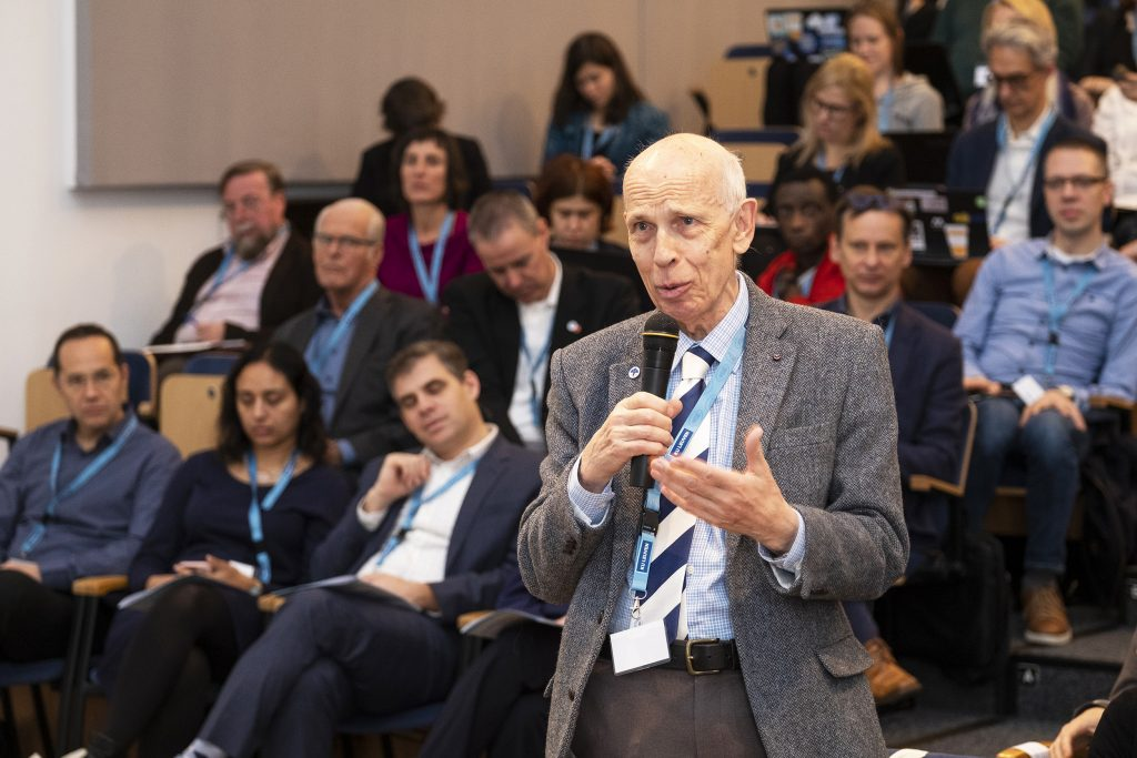 Professor Ole Petersen during the open discussions