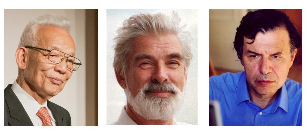 Photos of Nobel prize winners: Professor Syukuro Manabe MAE, Professor Klaus Hasselmann MAE, and  Professor Giorgio Parisi MAE